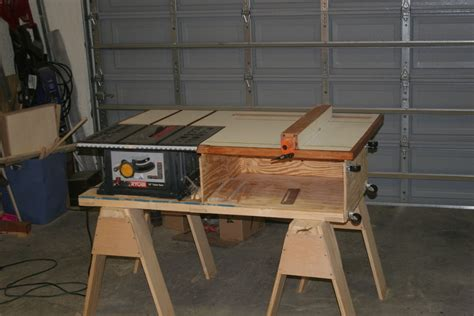 table saw bench plans table saw station a la nyw by ersatztom lumberjocks