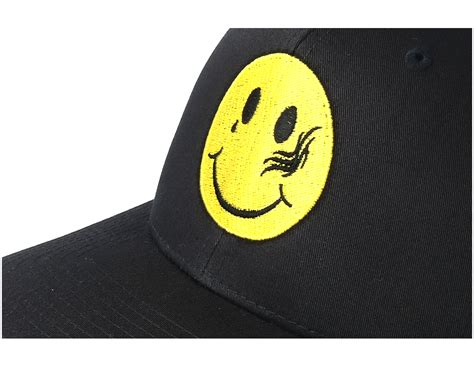 collective tattoo smiley black trucker collective caps