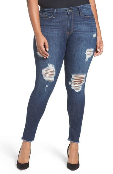 Hq 11462 Ripped Pencil Denim american legs destroyed nordstrom
