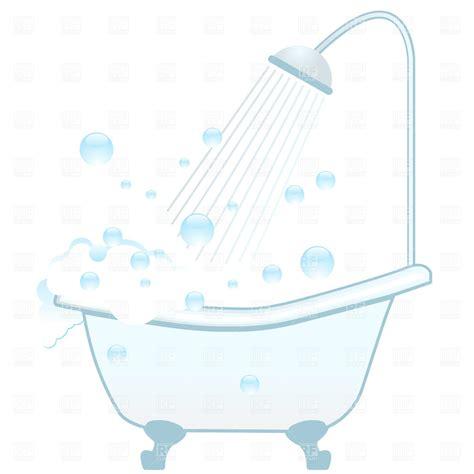 bathtub shower and foam vector clipart image 657 rfclipart