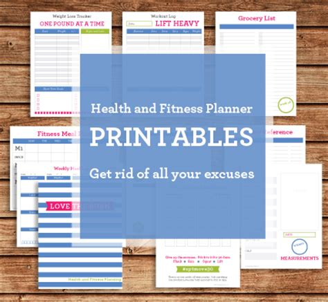 free printable health and fitness planner health and fitness planner printables