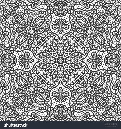 21867 Blackwhite Lace black white vector seamless lace pattern stock vector 421826872