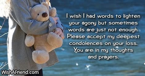 words of comfort for loss of a child sympathy messages for loss of child