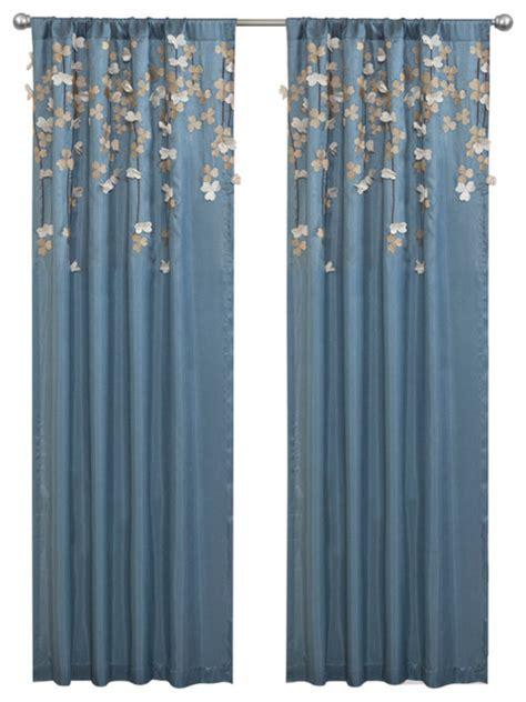 flower drops window curtain curtains by lush decor
