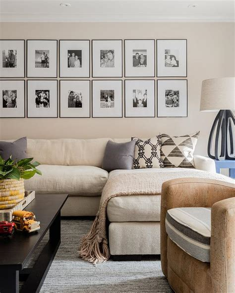 cream sectional  black coffee table transitional