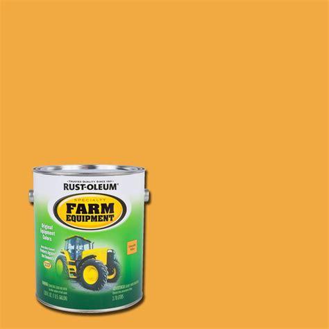 rust oleum specialty  gal farm equipment caterpillar yellow gloss enamel paint  pack