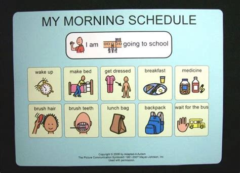 cards at school school morning schedule picture card pecs autism daily