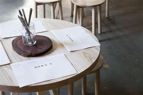 cr馘ence cuisine adh駸ive nomad restaurant by australian creative design studio maud