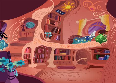 twilight sparkle bedroom library upper floors twilight s bedroom by daringdashie