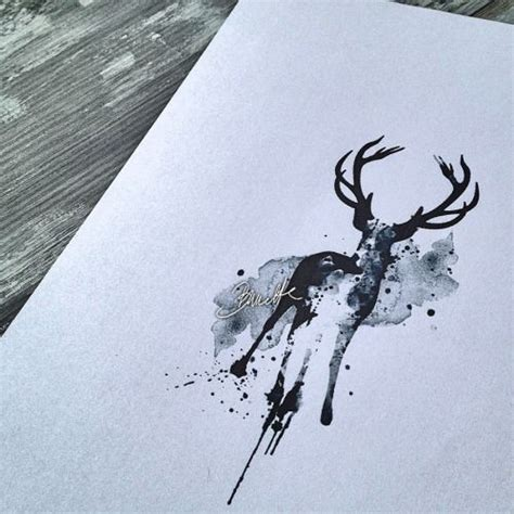 watercolor tattoo deer 25 best ideas about deer on reindeer