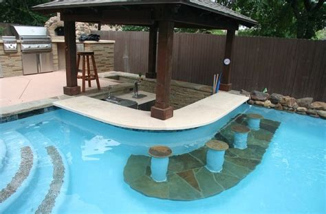 Pool Bar & Poolside Outdoor Kitchen   Contemporary   Pool   austin   by New Wave Pools Austin