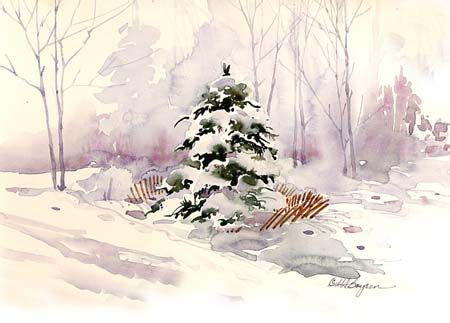 watercolor tutorial winter brighten your winter watercolor landscape by mary ann