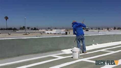 roof   apply elastomeric roof coating
