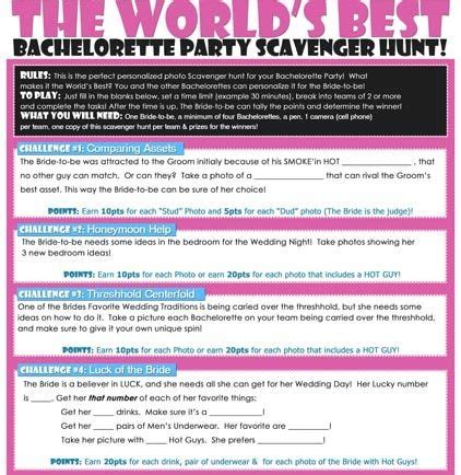 The Bachelor List The Hunt The Wedding By Feather 106 best bachelorette scavenger hunt images on