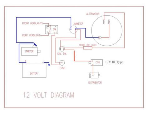 wiring diagram for key start 12 volt alternator conversion farmall cub