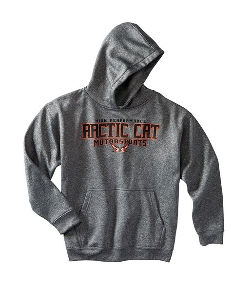 Hoodie Arctic Cat arctic cat inc arctic cat performance hoodie gray medium arctic cat performance hoodie