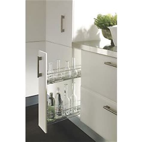 screwfix kitchen cabinets hafele 150mm pull out unit chrome plated cabinet storage