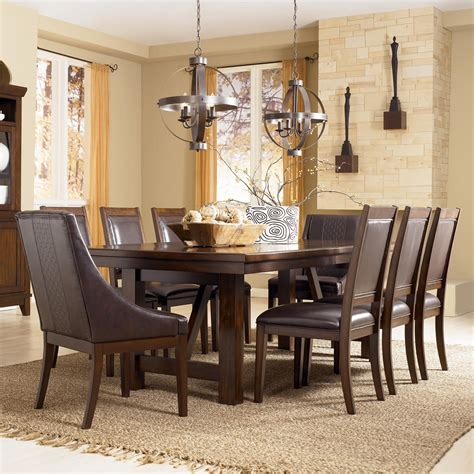9 dining room set steve silver leona 9 dining room set in