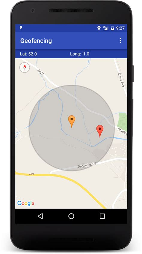 how to work with geofences on android