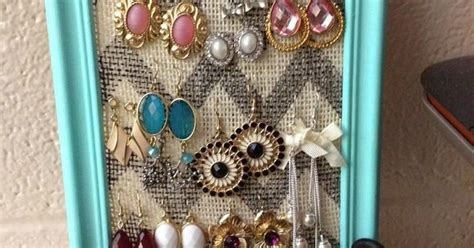 Jawelry Organizer 2 Drawers Tempat Anting Akrilik Anting Meja 2laci diy picture frame earring holder cheap and easy from s to yours