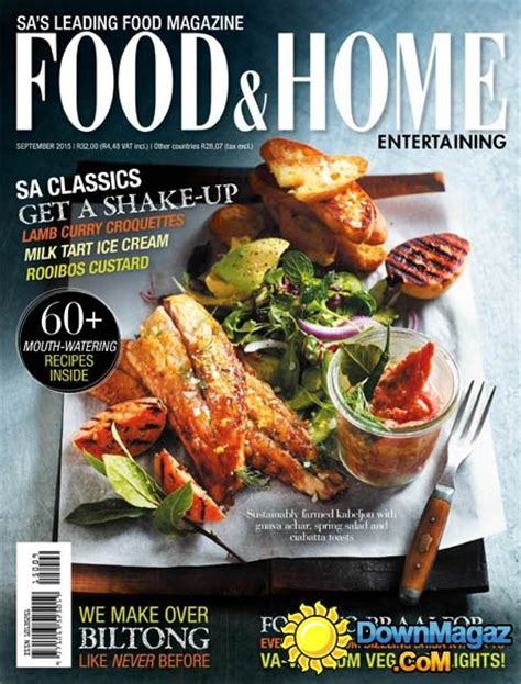 food home entertaining south africa september