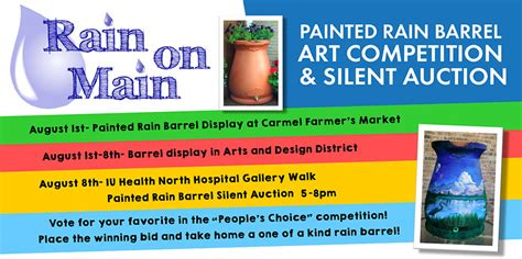 design competition through multidimensional auctions rain on main painted rain barrel art competition