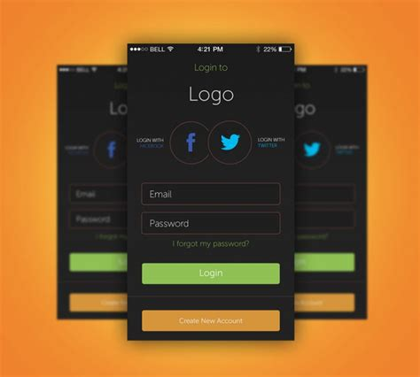 design a login page in photoshop cc speed art youtube app login screen free psd download download psd