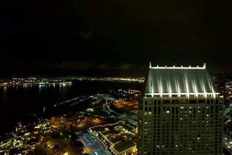 top of the hyatt bar san diego view from top of the hyatt bar at night picture of