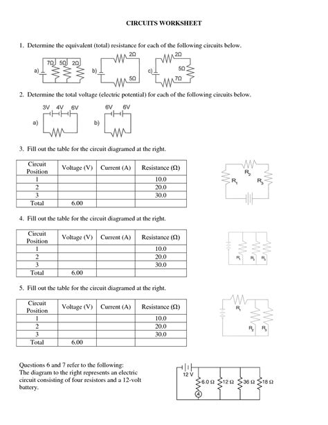 circuits resistors ws study guide and review parallel resistors worksheet 28 images ohm s resistors in series or in parallel parallel