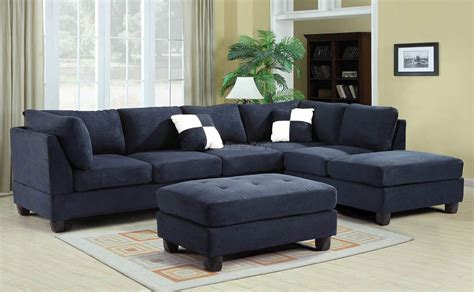 Navy Sectional Sofa G630 Reversible Sectional Set Navy Blue Furniture Furniture Cart