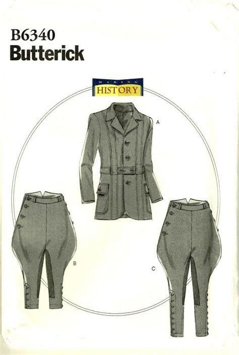 sewing pattern jodhpurs men jodhpurs breeches banded jacket edwardian making