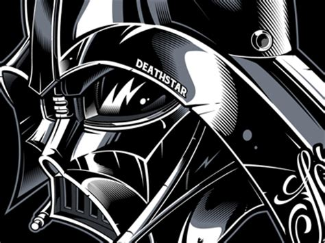 dribbble vader darthvader vector illustration sweyda