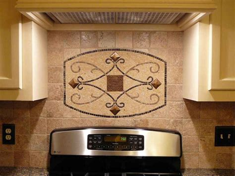 tile medallions for kitchen backsplash stone backsplash design feel the home