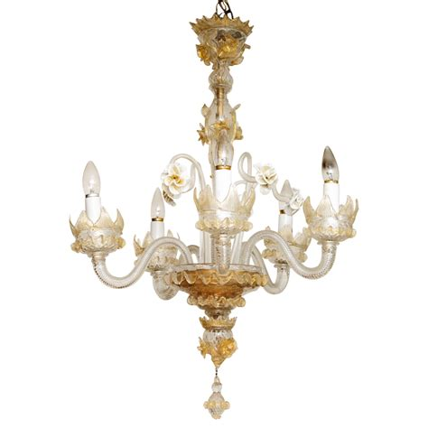 Vintage Murano Chandelier Vintage Murano Chandelier With Floral Accents On Antique Row West Palm Florida