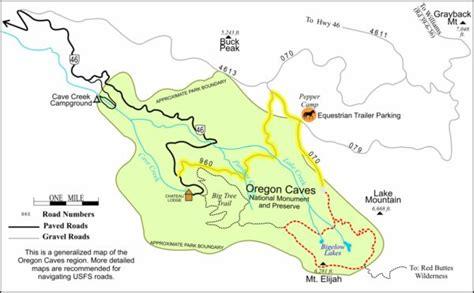 map for oregon 600 bigelow lake loop trail highway 199