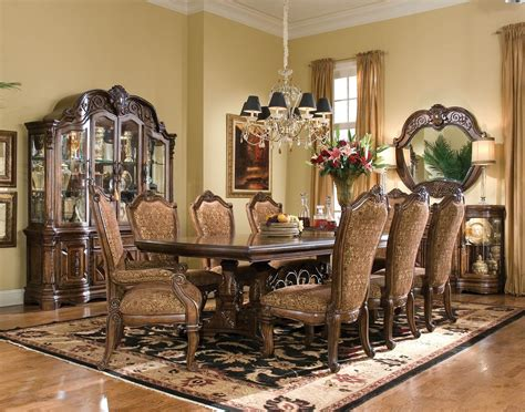 michael amini dining room furniture aico windsor court rectangular dining set 70002l2 54