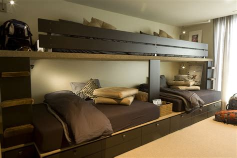 bunk room contemporary bedroom kansas city by
