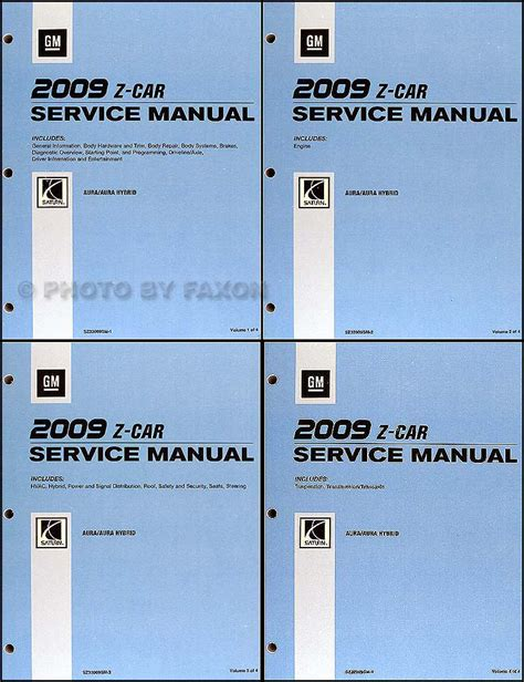 service manual automotive repair manual 2009 saturn outlook navigation system 100 2008 2009 saturn aura and aura hybrid repair shop manual original 4 volume set