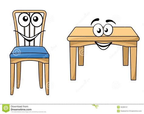 Contemporary Dining Room Tables And Chairs by Cute Cartoon Wooden Furniture Stock Vector Image 40286151