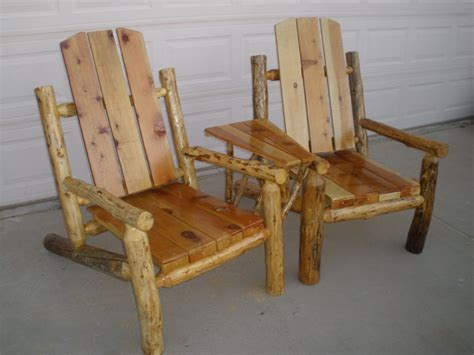outdoor log adirondack chairs ocassional tables log furniture az