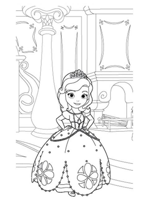 princess sofia coloring pages games get this princess sofia the first in her room coloring