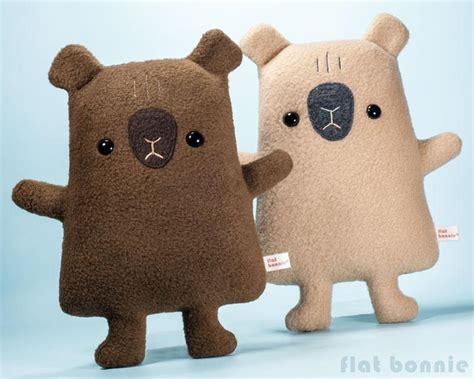 Handmade Stuffed Toys - capybara stuffed animal flat capy handmade plush