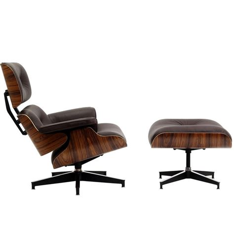 tan leather chair and ottoman eames style lounge chair and ottoman brown leather walnut wood