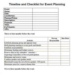 Event Checklist Template by 10 Event Planning Checklist Template Free Sle