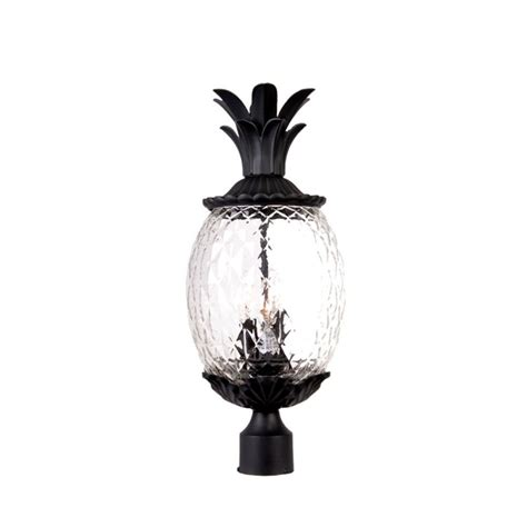 Pineapple Outdoor Light Fixtures Acclaim Lighting 7517bk Matte Black 3 Light 22 25 Quot Height Pineapple Post Light From The Lanai
