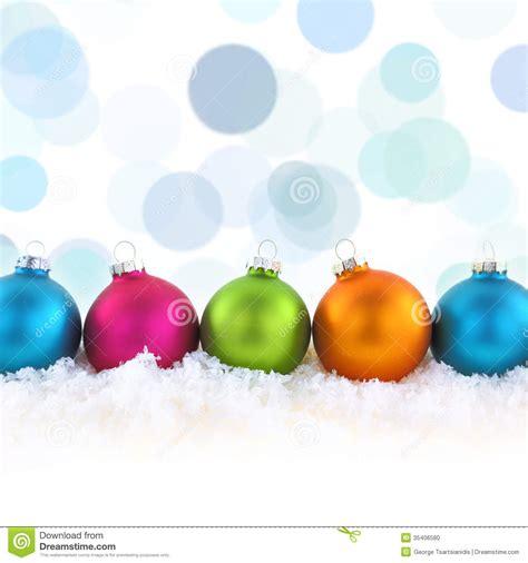 colorful christmas balls stock photo image 35406580