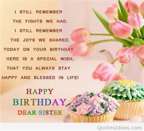 Happy Birthday Sis Quotes Wonderful Happy Birthday Sister Quotes And Images