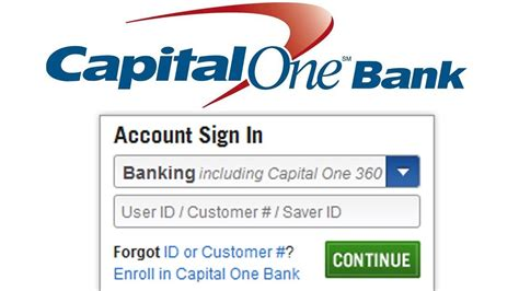 capitalone login payment and information 1 click