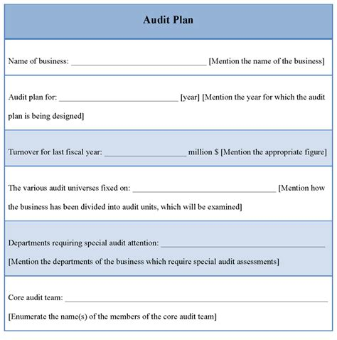 audit agenda template audit plan sle of audit plan template sle templates