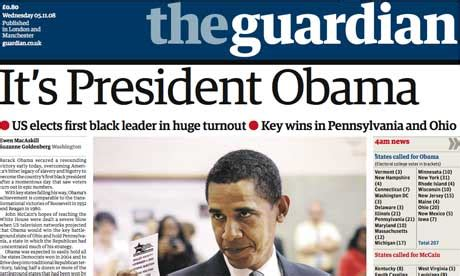 The Guardian Barack Obama And Mccain How The Unfolded Us
